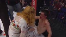 Graphic: Mother slaps MMA fighter son after suffering TKO defeat