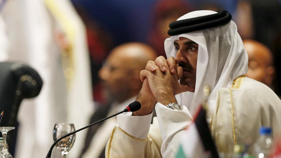 Qatar Sheikh Tamim bin Hamad al Thani attends the opening meeting of the Arab Summit in Sharm el-Sheikh, in the South Sinai governorate, south of Cairo, March 28, 2015. (Reuters)