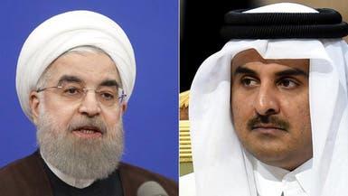 أمير قطر لرئيس إيران: نريد تعزيز علاقاتنا أكثر مما مضى