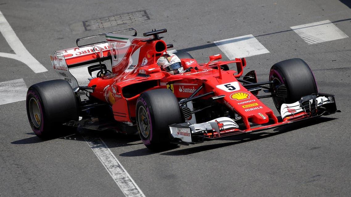 Vettel in Monaco, reuters