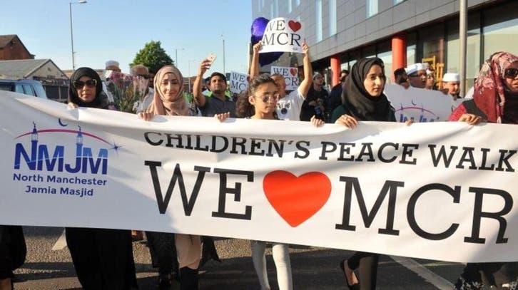 مئات الأطفال المسلمين يتضامنون مع ضحايا مانشستر