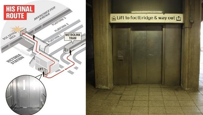 حمله المصعد الى حيث سار أقل من 50 مترا ليقتل 22 ويجرح 59 آخرين
