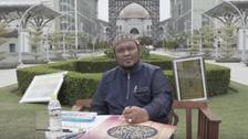 WATCH: Malaysian paints Islamic art using Zamzam holy water