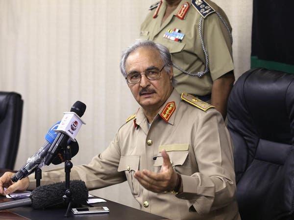 حفتر: الحل في ليبيا عبر الانتخاب وإلا فتفويض الجيش حتمي
