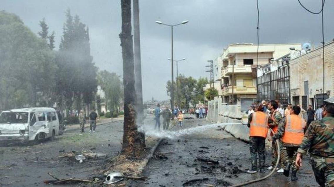 انفجار سابق في حمص