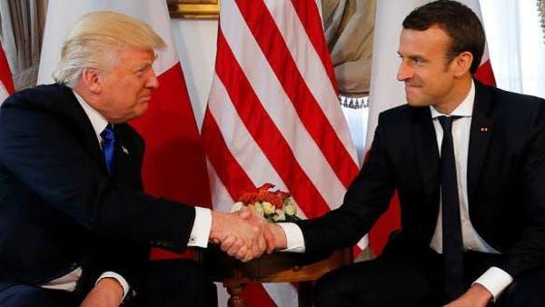 Risultati immagini per ترامپ و مکرون