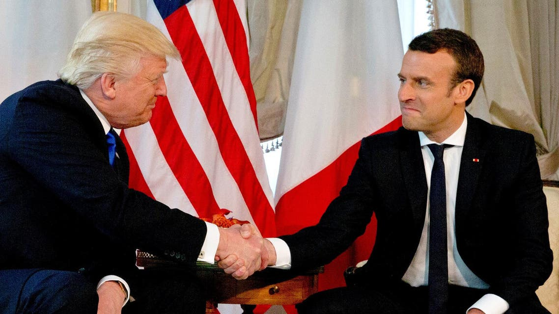 Trump and Macron in Brussels, reuters
