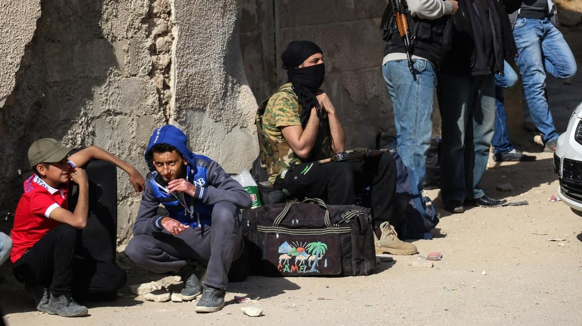 The last rebels and others who had agreed to leave the besieged Barzeh district of Damascus have done so (AFP)