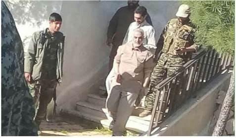 تفقد قاسم سليماني لقوات الحرس الثوري في محافظة حماة