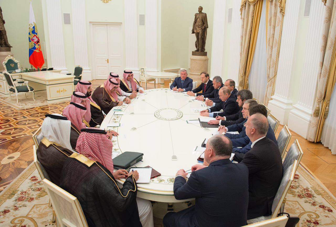 جانب من المباحثات السعودية الروسية في موسكو