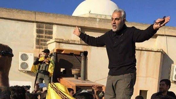 سليماني في بلدة الحاضر بريف حلب يخطب في ميليشيا عراقية وأفغانية