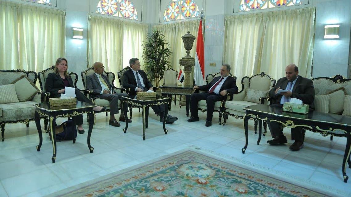 المخلافي والسفير الأميركي في اليمن