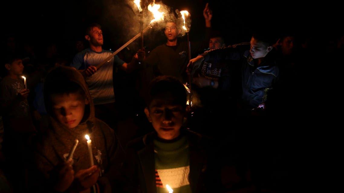 power cut of in Gaza City