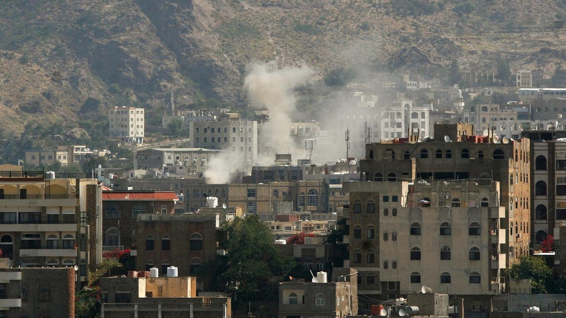 Dust rises from the site of an explosion during clashes between Houthi fighters and pro-government fighters in southwestern city of Taiz, Yemen November 22, 2016. (File photo: Reuters)