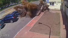 WATCH: A dramatic pipe explosion causes severe damages