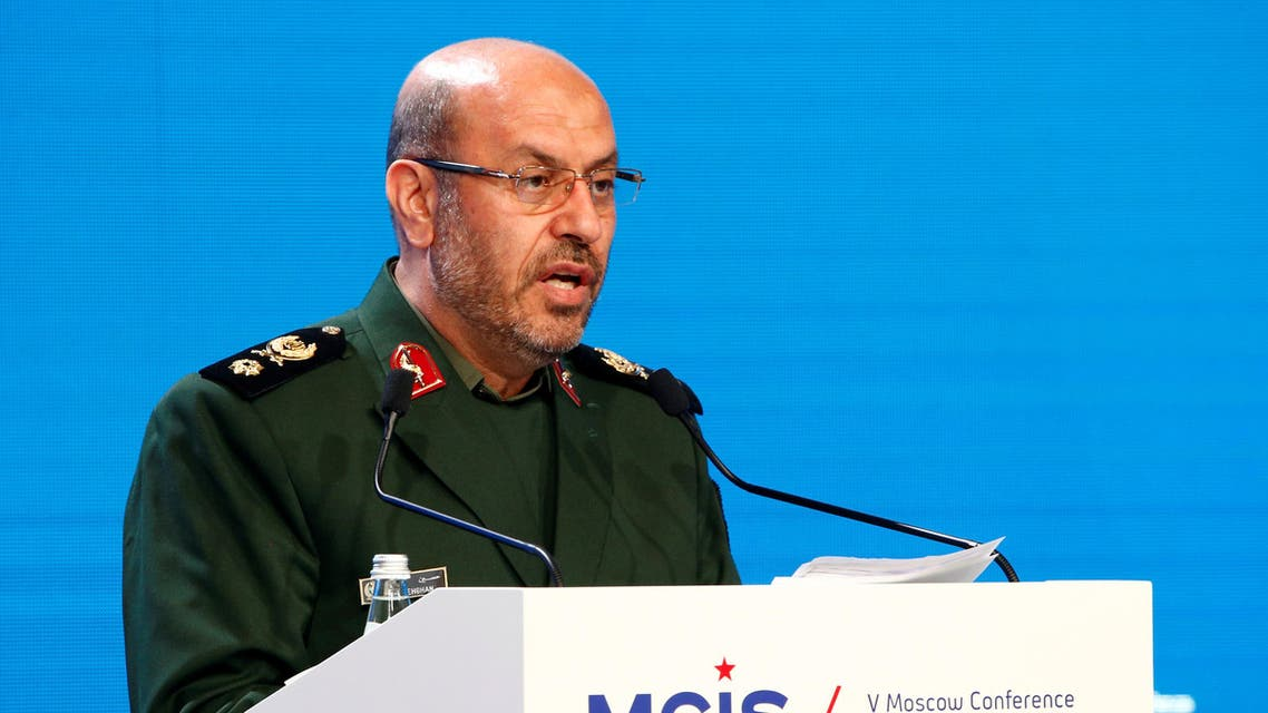 Iranian Defence Minister Hossein Dehghan delivers a speech as he attends the 5th Moscow Conference on International Security (MCIS) in Moscow, Russia, April 27, 2016. (reuters)