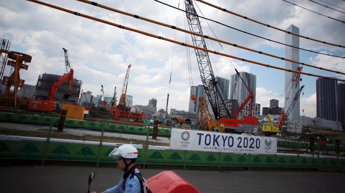 The construction site of the athlete's village for the 2020 Tokyo Summer Olympics in Harumi in Tokyo. (AP)