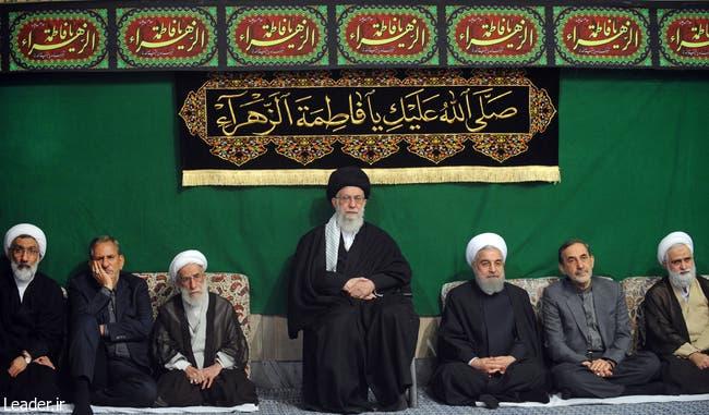 خامنئي وقيادات من النظام الايراني