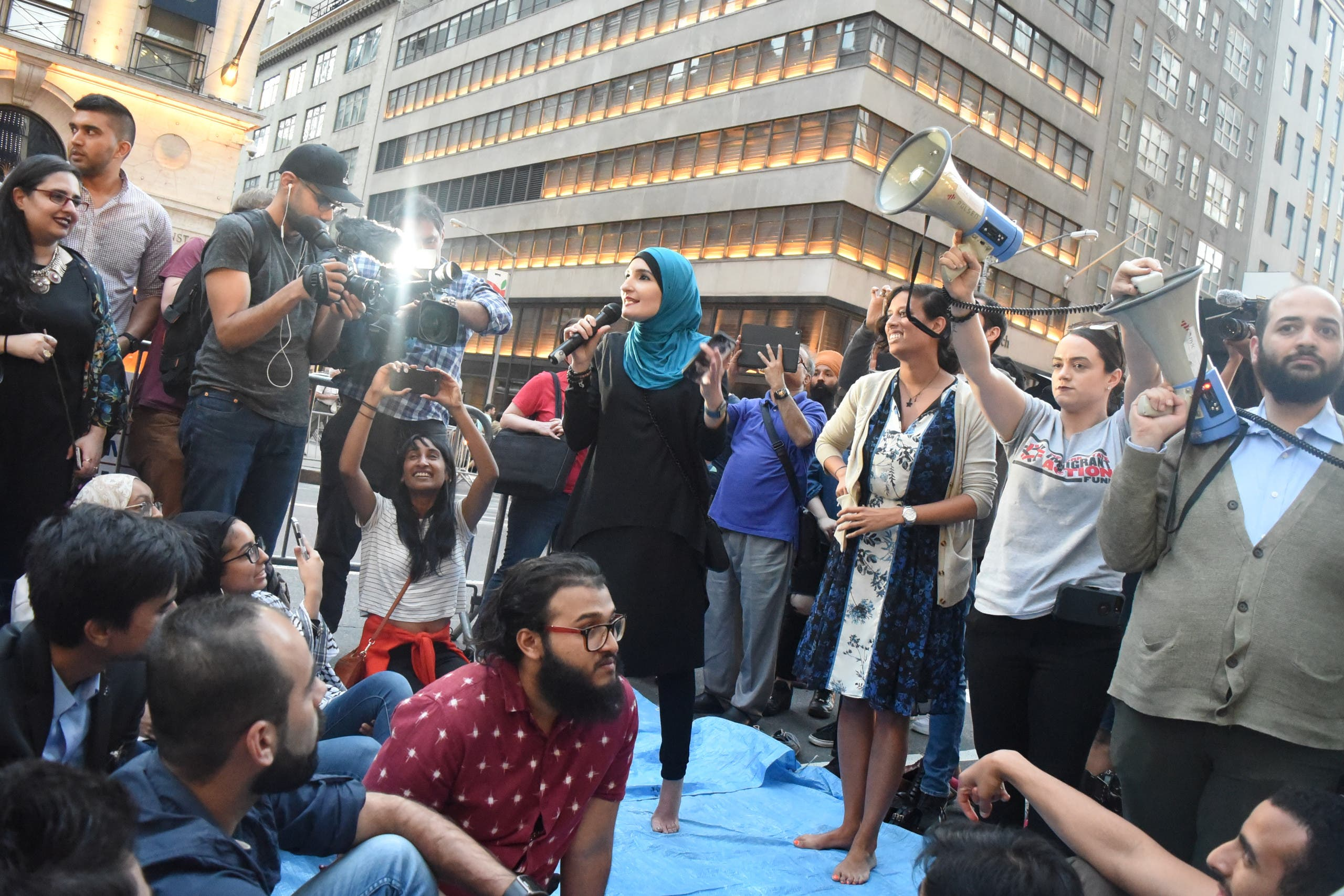 Sarsour2:Activist Linda Sarsour urges the community to stay vocal.
