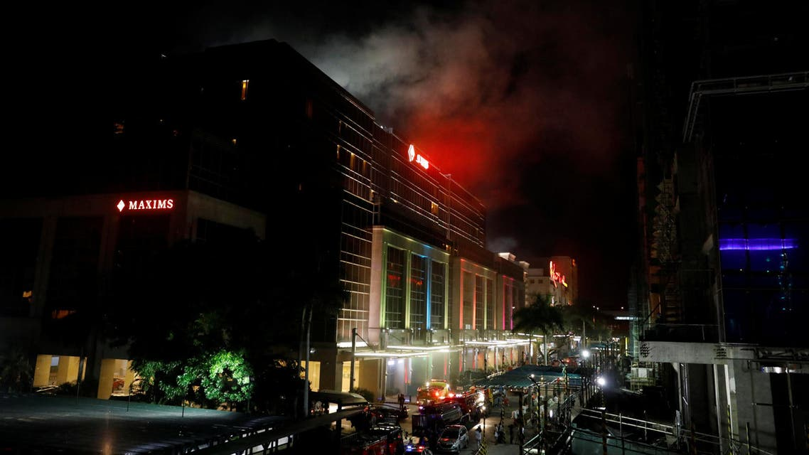 Smoke billows from the Resorts World building in Pasay City, Metro Manila, Philippines June 2, 2017. (Reuters)