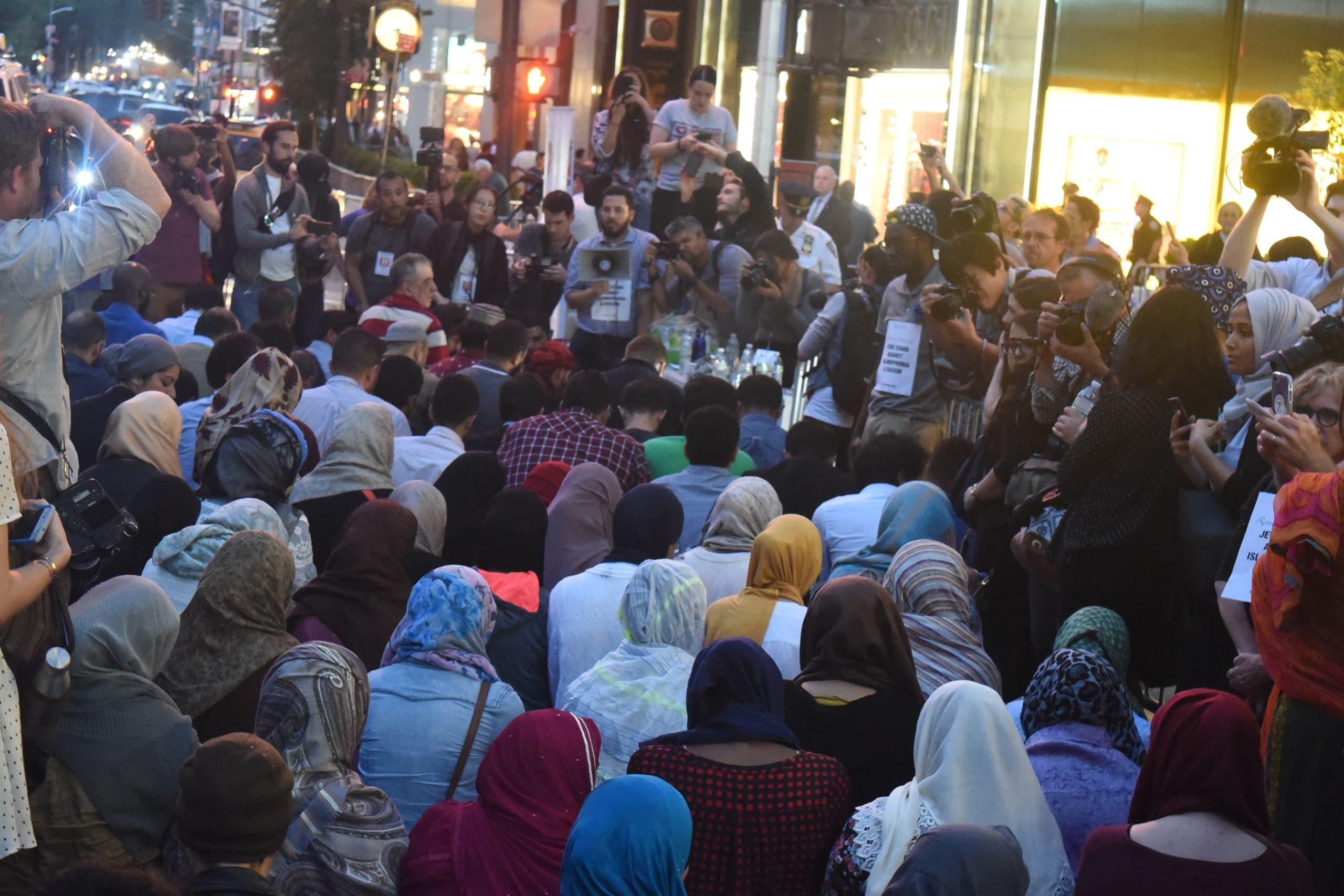 Prayer1: The public iftar prayer begins at sundown.