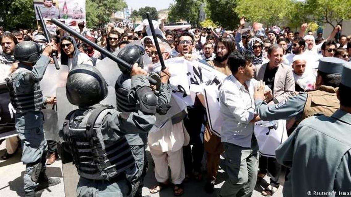 تظاهرات در پی حادثه خونین کابل