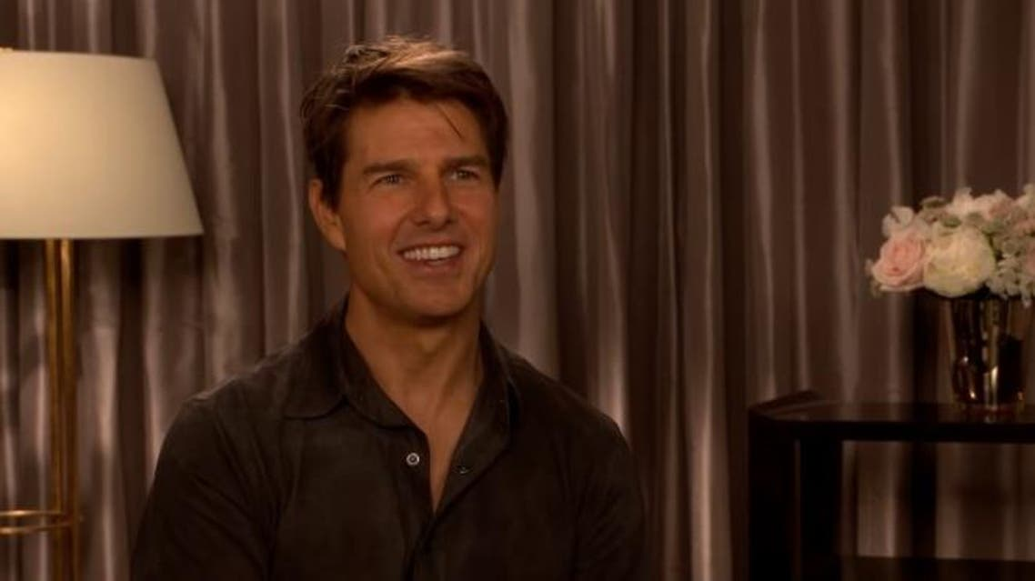 Tom cruise talking about new Top Gun movie, screengrab