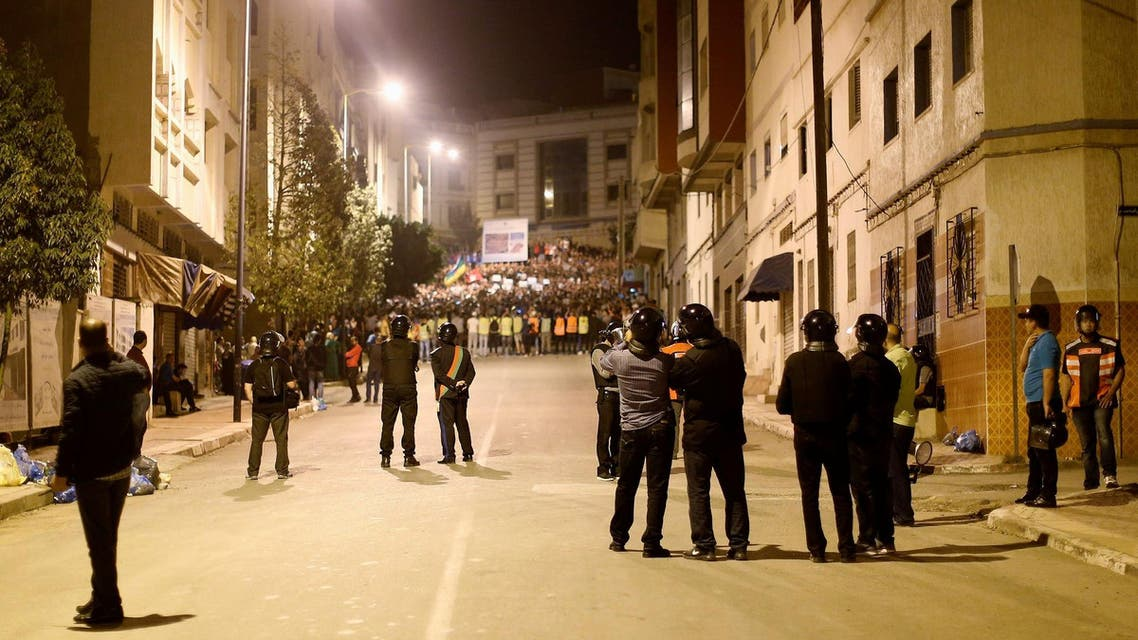 police block rally in north Morocco after protest leader arrested, reuters