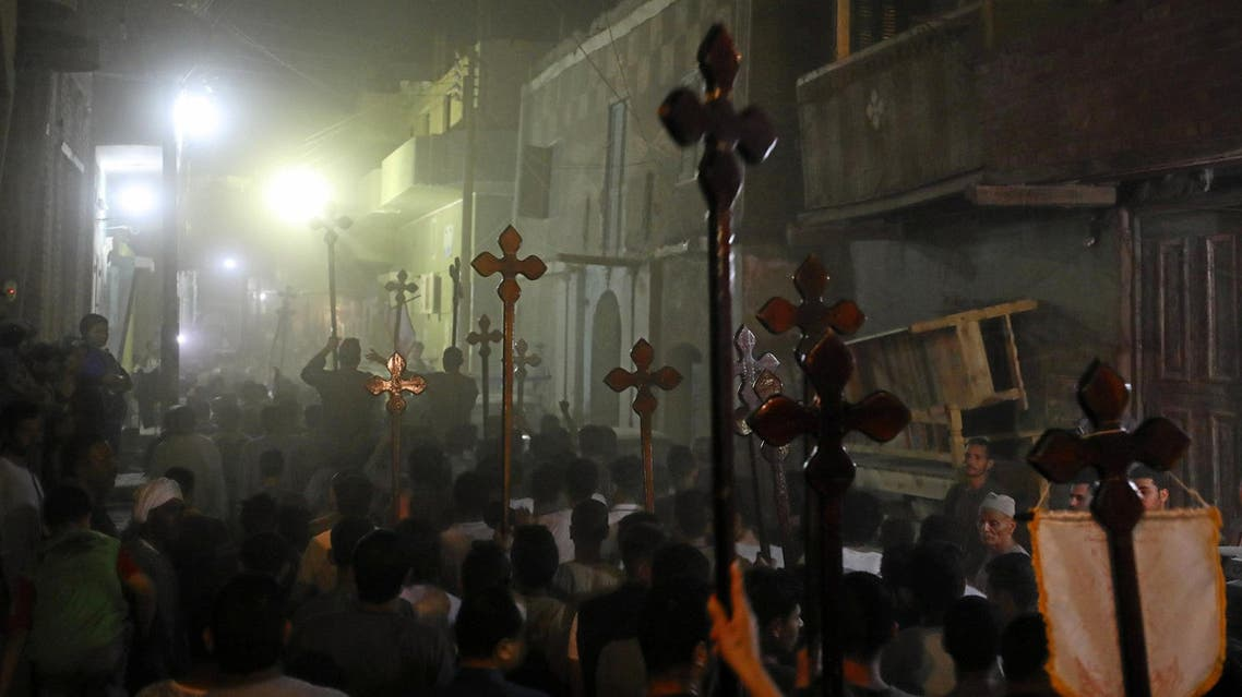 Minya mourners after attack