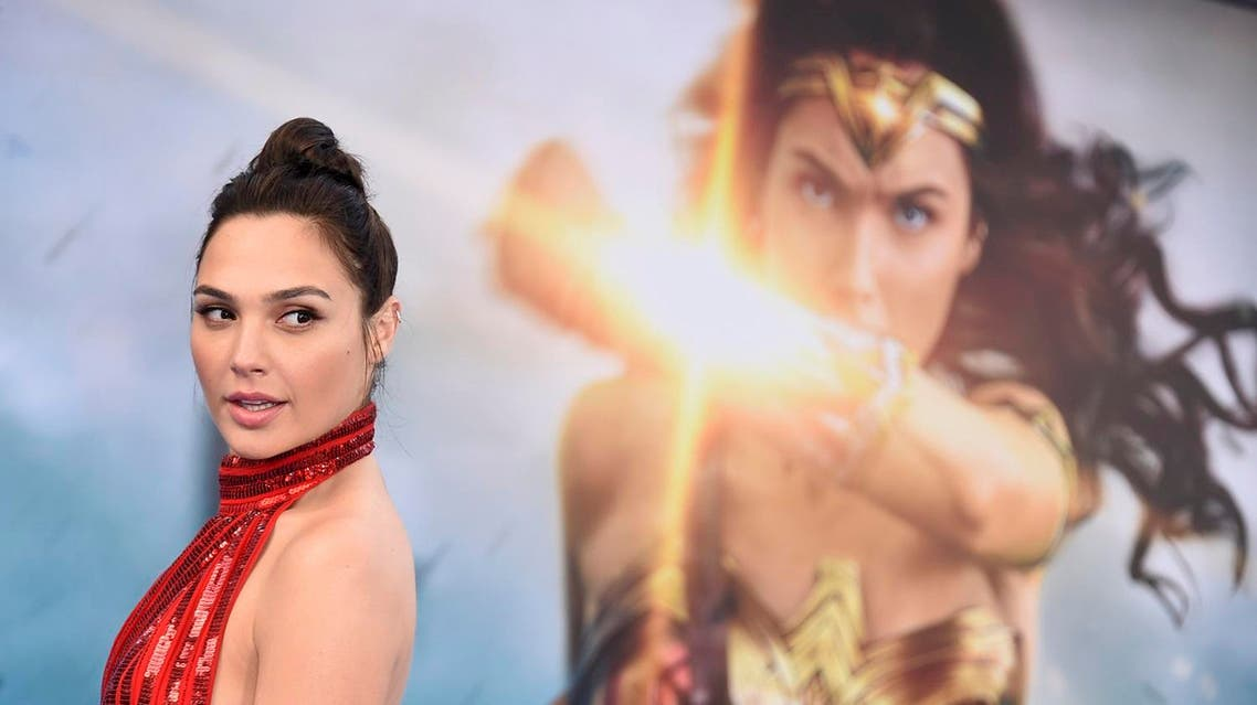 "Gal Gadot arrives at the world premiere of ""Wonder Woman"" in Los Angeles. (AP)"
