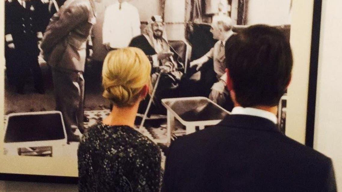 The 1945 photo was Saudi Arabia's King Abdulaziz meeting with US President Franklin D. Roosevelt. (Instagram)