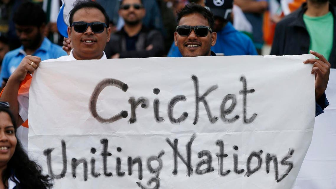 Fans display a banner before the India v Pakistan  match for the ICC Champions Trophy Group B at Edgbaston on June 4, 2017. (Reuters)