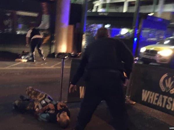 صورة جثة أحد مروعي لندن مرتدياً الحزام الناسف