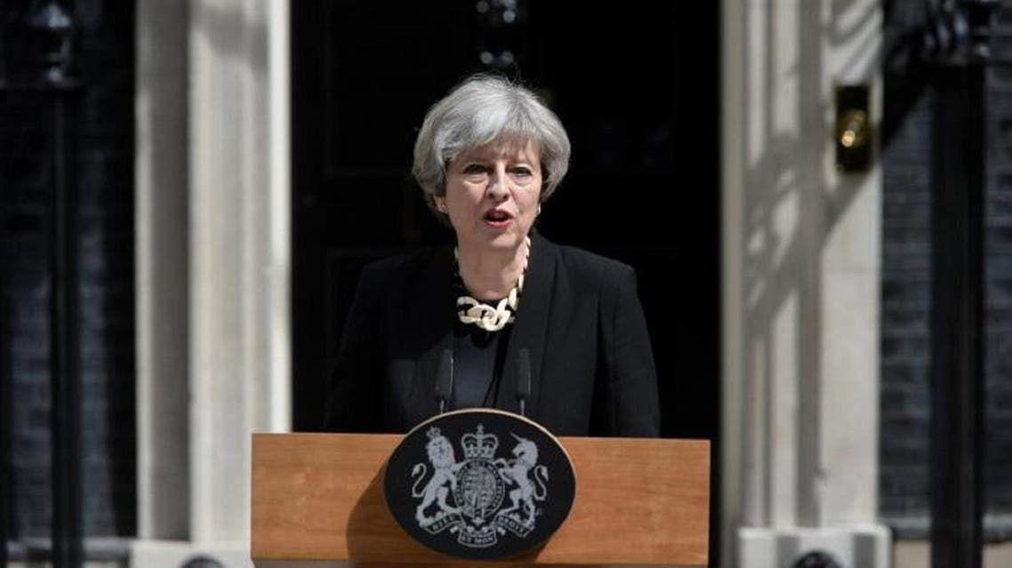 Britain's Prime Minister Theresa May speaks outside 10 Downing Street after an attack on London Bridge and Borough Market left 7 people dead and dozens injured in London, on June 4, 2017. (Reuters)