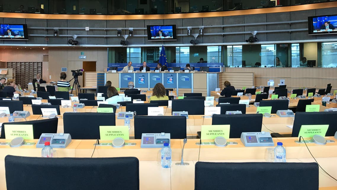 جانب من اجتماع لجنة الشؤون الداخلية والحريات في البرلمان الأوروبي 30 مايو 2017