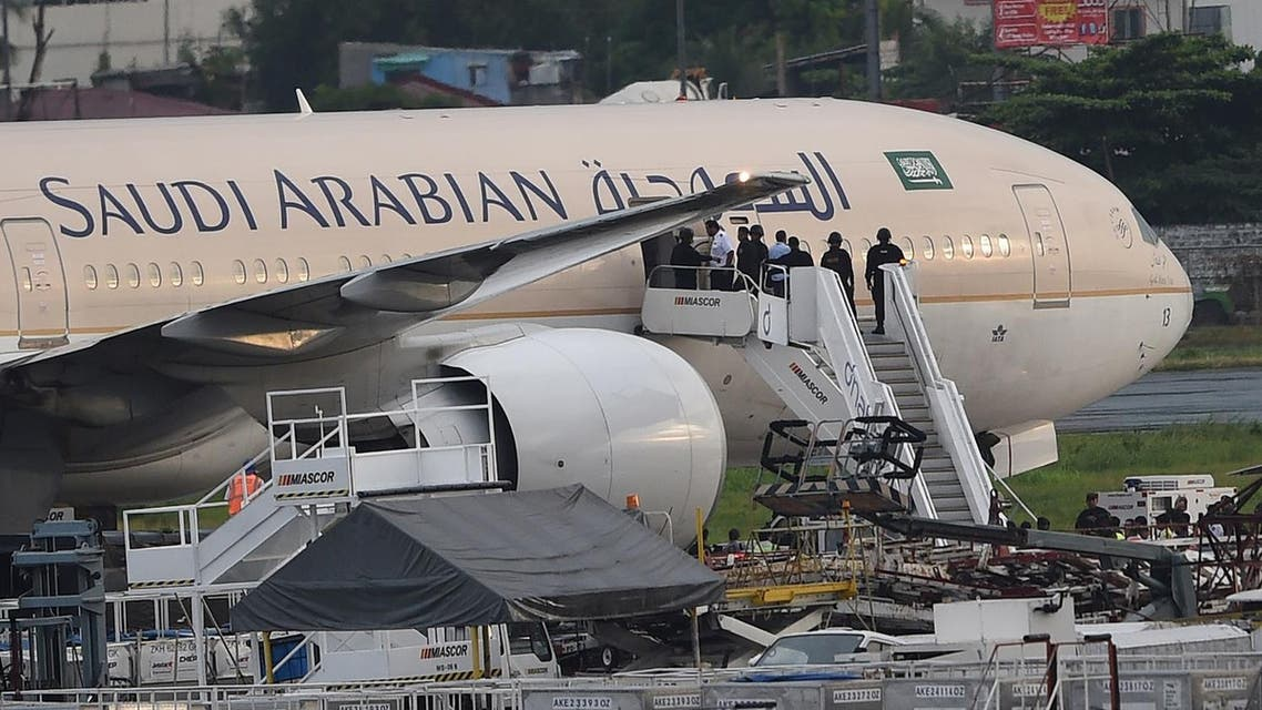Saudi Airline plane. (AFP)