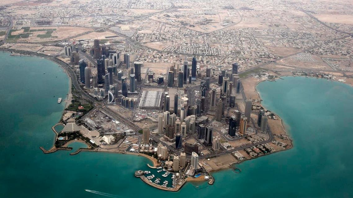 An aerial view shows Doha's diplomatic area March 21, 2013. (Reuters)