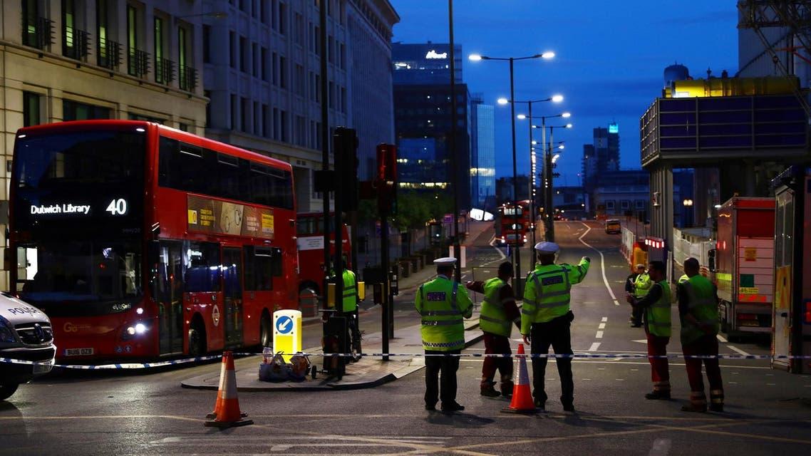 British police on London Bridge