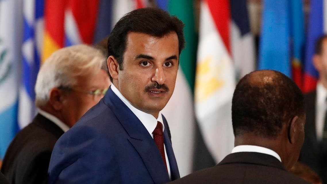 (FILES) This file photo taken on September 20, 2016 shows Qatar's Emir, Sheikh Tamim bin Hamad al-Thani attending the 71st session of the United Nations General Assembly in New York. Gulf states on June 5, 2017 cut diplomatic ties with neighbouring Qatar and kicked it out of a military coalition, less than a month after US President Donald Trump visited the region to cement ties with powerhouse Saudi Arabia. (AFP)