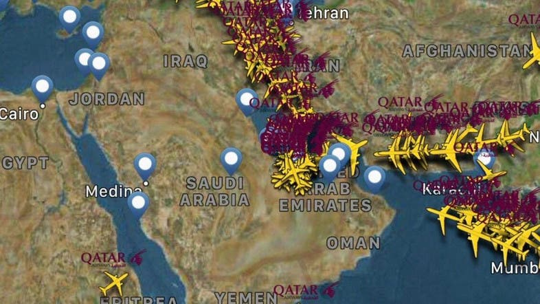 Pictures show Qatar Airways flight routes after air embargo ...