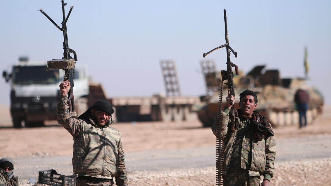 Syrian Democratic Force soldiers in Raqqa