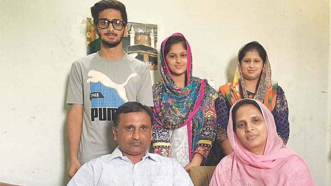 Kabir Hussain, and his family, shown after he returns from Yemen after spending 6 months there