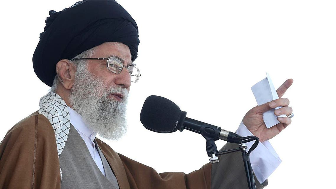 In this picture released by official website of the office of the Iranian supreme leader on Wednesday, May 10, 2017, Supreme Leader Ayatollah Ali Khamenei speaks during a graduation ceremony AP