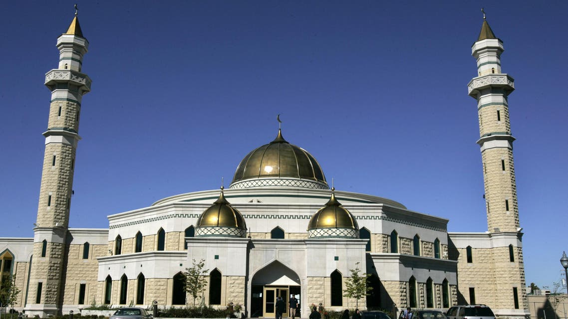 In this Sept. 30, 2005 file photo, the Islamic Center of America mosque in Dearborn, Mich., is shown. Roger Stockham, a 63-year-old Southern California man, was arrested outside the mosque on Monday evening, Jan. 24, 2011