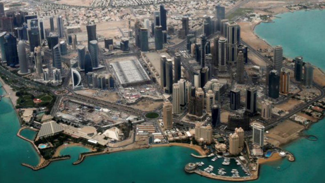 An aerial view of Doha's diplomatic area. (File photo: Reuters)
