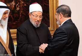 القرضاوي ومحمد مرسي