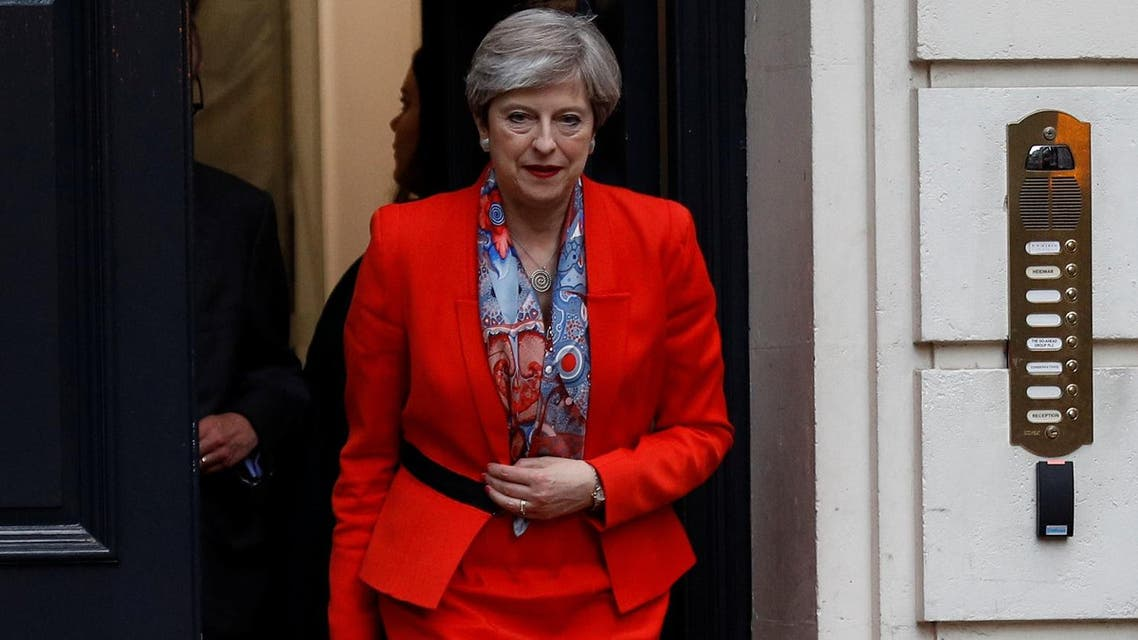 Britain's Prime Minister Theresa May leaves the Conservative Party's Headquarters after Britain's election in London, June 9, 2017. (Reuters)