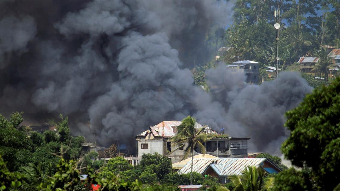 Government troops' continuous assault with insurgents from the so-called Maute group, who has taken over large parts of the Marawi City, Philippines. (Reuters)