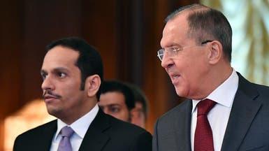 وزير خارجية قطر من موسكو: نريد علاقات إيجابية مع إيران