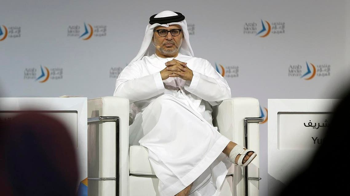 Emirati Minister of State for Foreign Affairs, Anwar Gargash talks at the Arab Media Forum in Dubai. (File photo: AP)